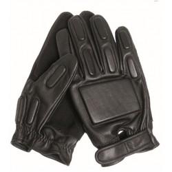 SEC Handschuhe Leder schwarz