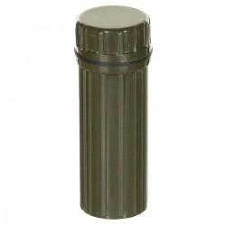 Wasserdichte Box, rund, oliv
